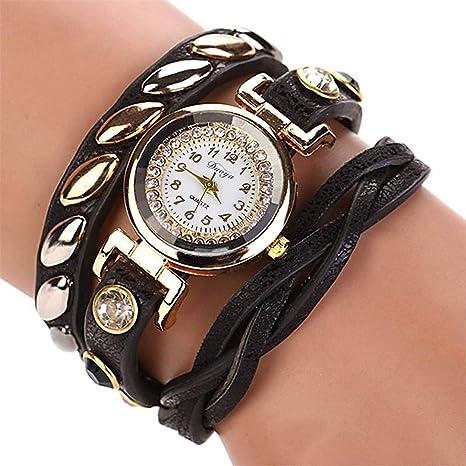 Amazon.com: Mujer NEW Fashion Femmes Mode Casual Bracelet En Cuir -Bracelet Femmes Robe Women Watches Pink: Beauty