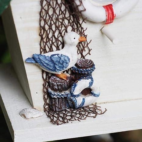 Sparrows  Eco-amigable alimentador Birdhouses GONAEstilo Mediterr/áneo a Prueba de Lluvia p/ájaro casa Nido Jaula o Fuera de Madera Colgante p/ájaro Hotel Caja de Alta jerarqu/ía-cotorra