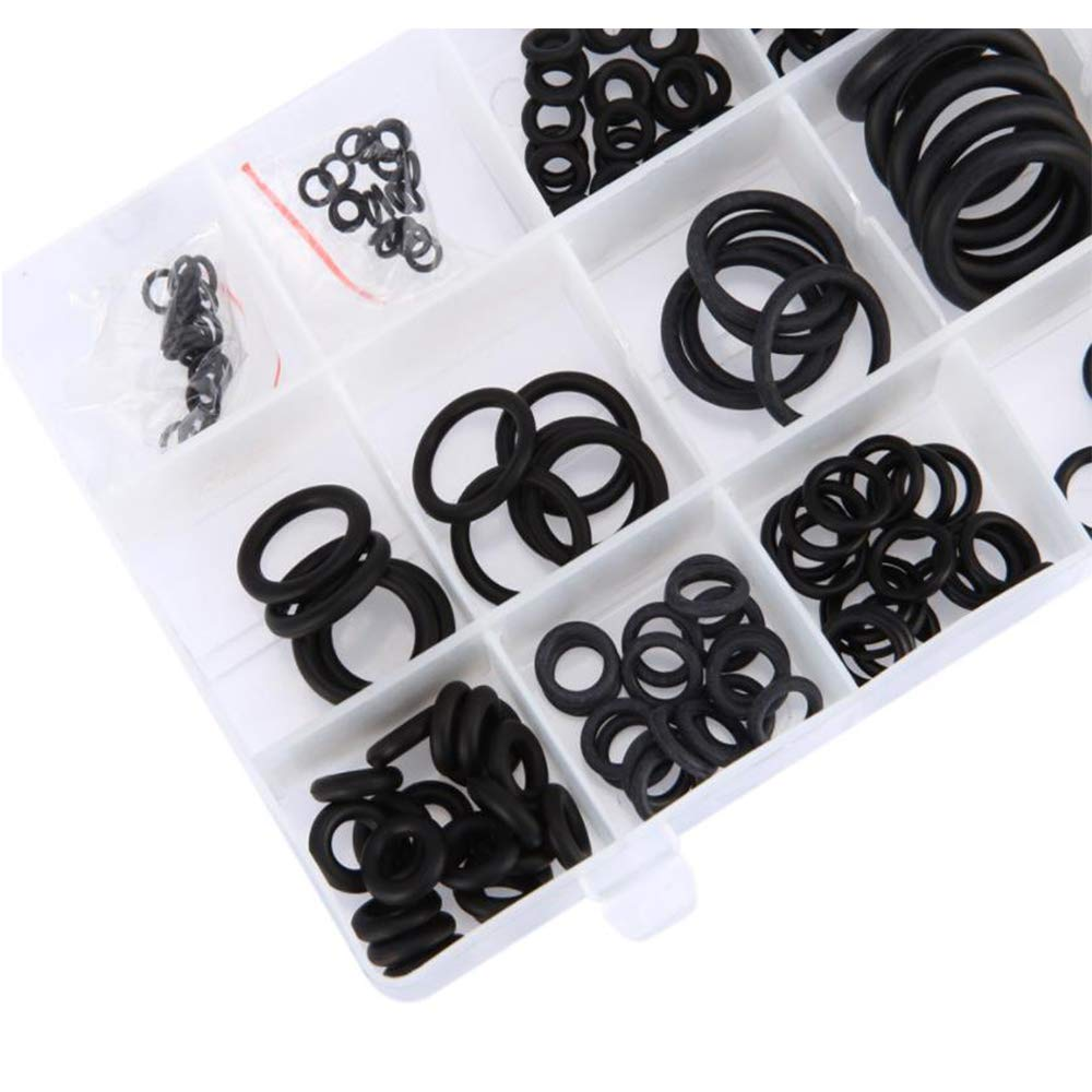 Xinlie 225 Pcs Rubber O Rings Kit Seal Ring Kit 18 Sizes Washer Seals Assortment Set for Plumbing Automotive Engineers and General Repair with Case Maintenance