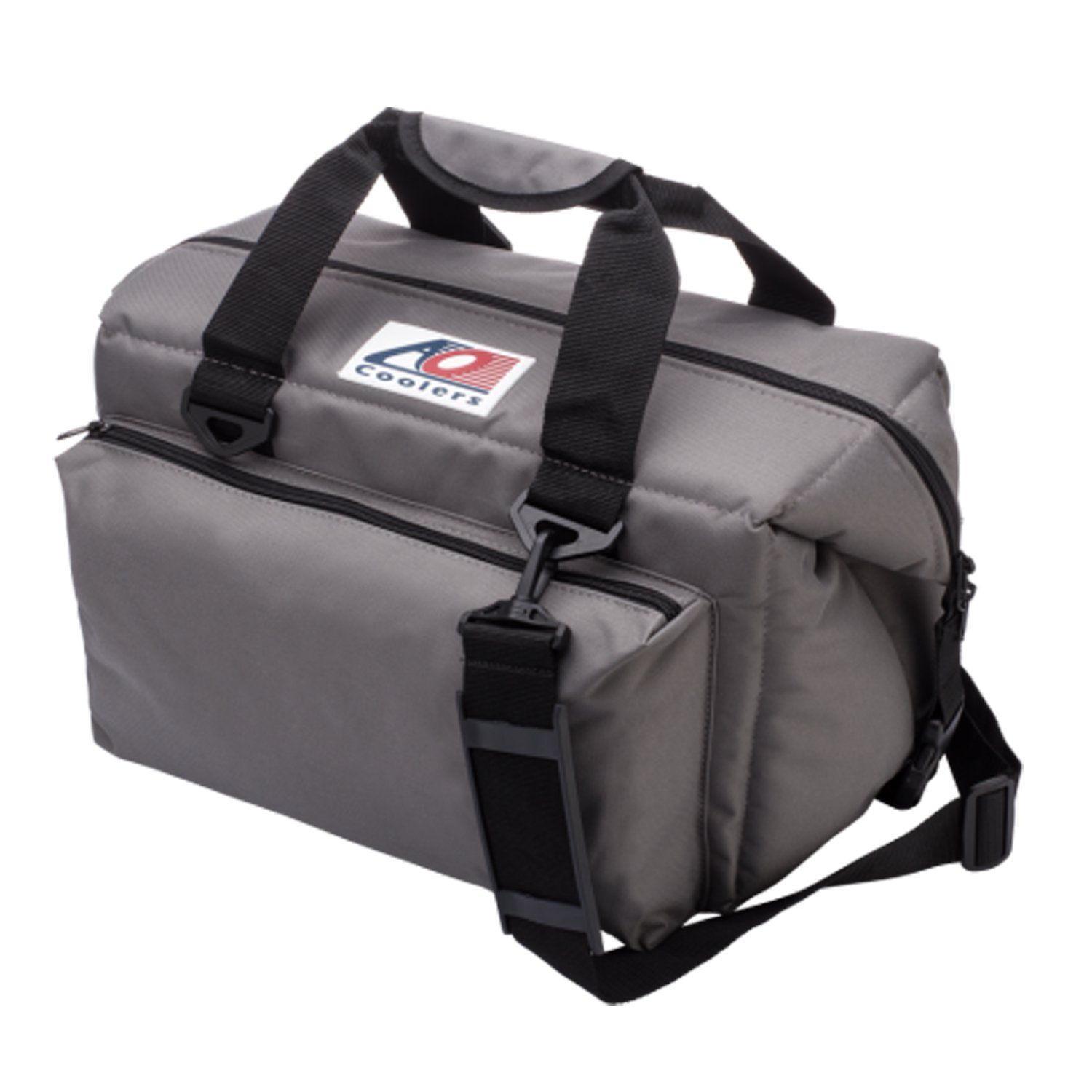 AO Coolers Deluxe Canvas Soft Cooler with High-Density Insulation, Charcoal, 24-Can by AO Coolers