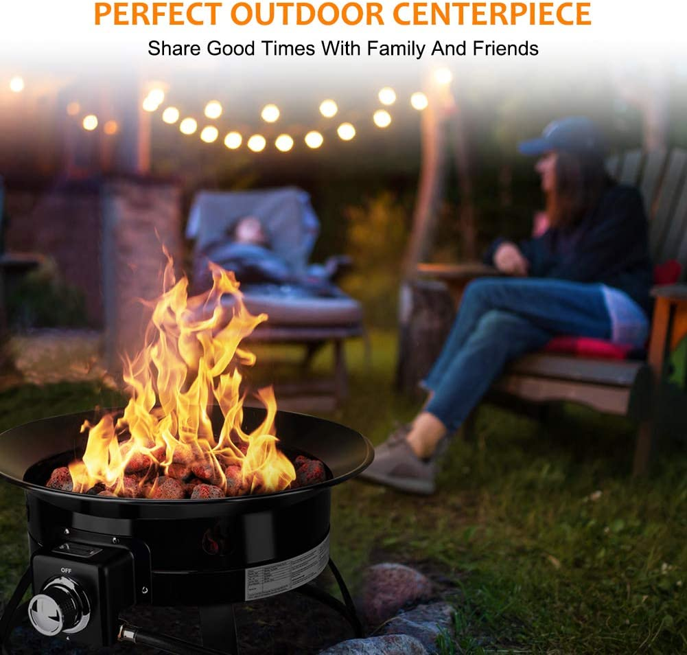 Camplux Outdoor Gas Fire Bowl 19 Diameter Gas Fire Pit 52000btu Manual Ignition Fp19mb Portable Propane Fire Pit For Camping Backyard Party Fire Pits Outdoor Fireplaces Fire Pits