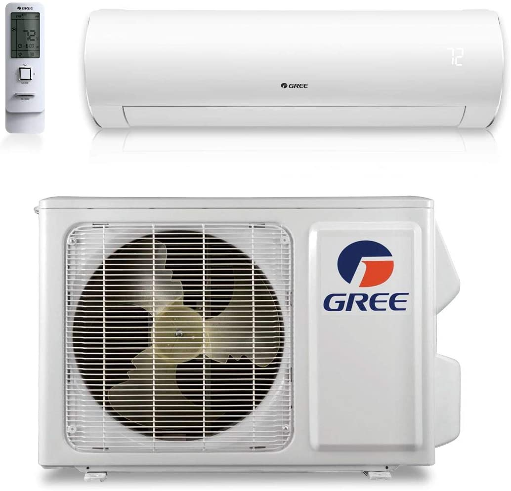 Gree 12,000 BTU 30.5 SEER Sapphire Wall Mount Ductless Mini Split Air Conditioner Heat Pump 208/230V