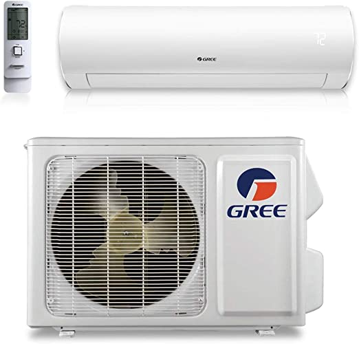 Amazon Com Gree 9 000 Btu 38 Seer Sapphire Wall Mount Ductless Mini Split Air Conditioner Heat Pump 208 230v Home Kitchen