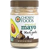 Chosen Foods Mayo Avocado Oil Black Garlic, 12 oz