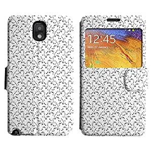 LEOCASE nota de la música Funda Carcasa Cuero Tapa Case Para Samsung Galaxy Note 3 N9000 No.1005357