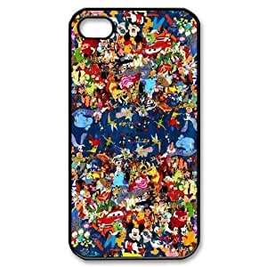 iphone 4/4s Covers Hard Back Protective-Disney All Characters Case Perfect as Christmas gift(4)