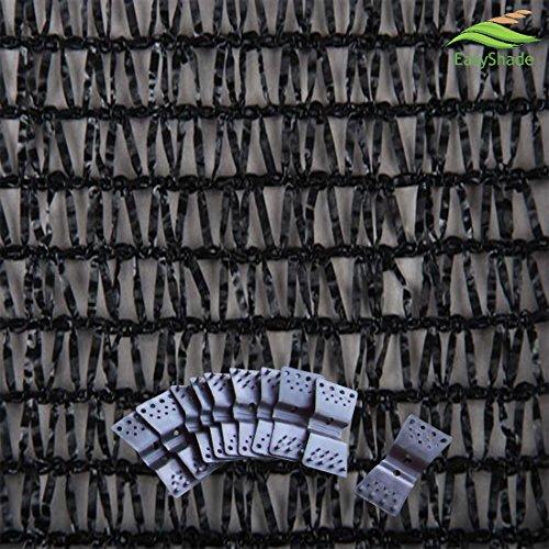 EasyShade Black 40% Bulk Shade Cloth UV Resistant Fabric 20 ft x 8 ft Clips Free
