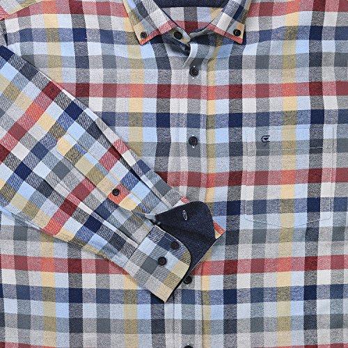 Chemise en flanelle à carreaux (manches longues) de Casamoda grandes tailles jusqu'au 7XL