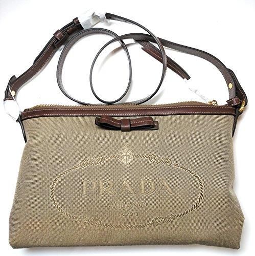 - Prada Jacquard Logo Corda and Brucia Crossbody Bag for Women 1BH050