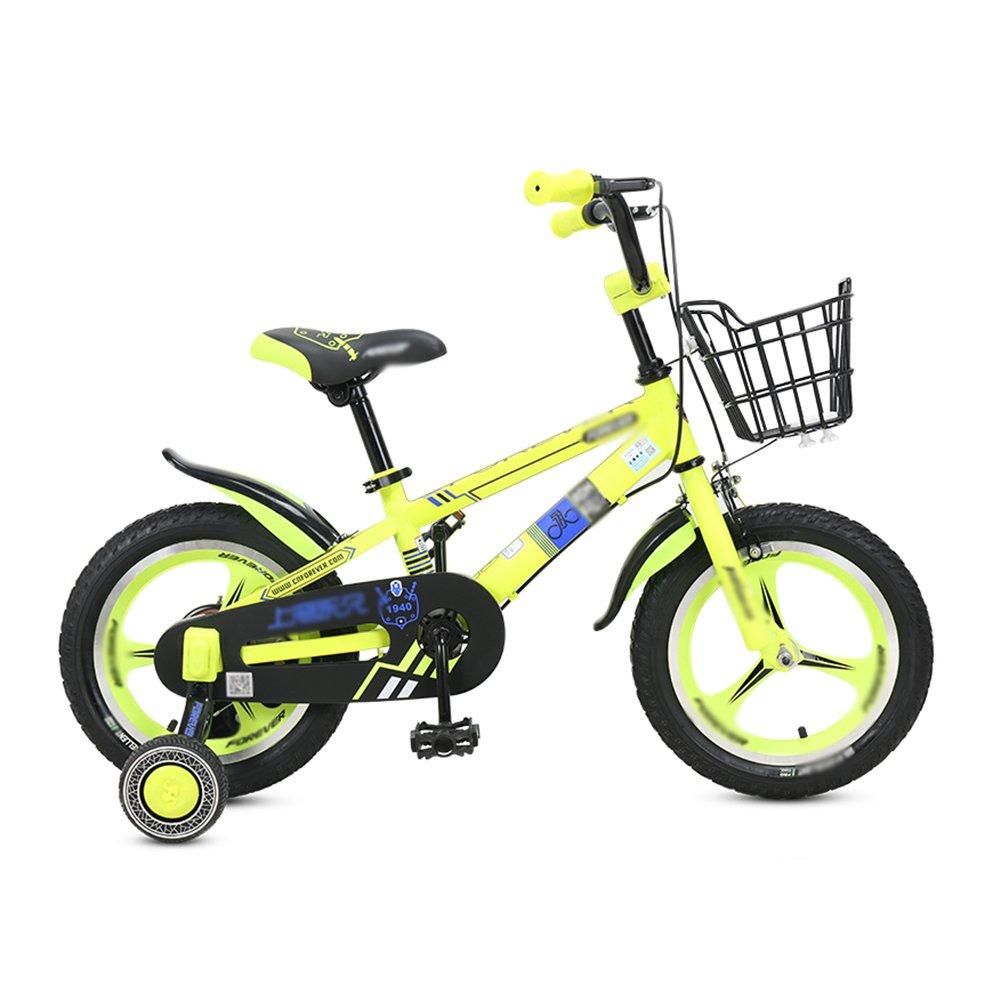 ベビーキャリッジバイク子供の自転車12 14 16インチの男性と女性の子供の自転車スポークホイール1つのホイール2-8歳の黄色 B07DW42KR2One wheel 16 inch