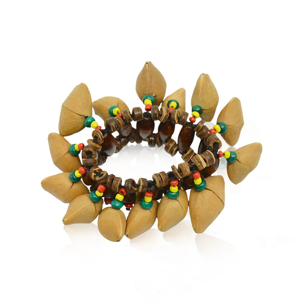 JYFY Nuts Shell Bracelet African Tribal Style Bracelet Djembe Performance Percussion Accessories