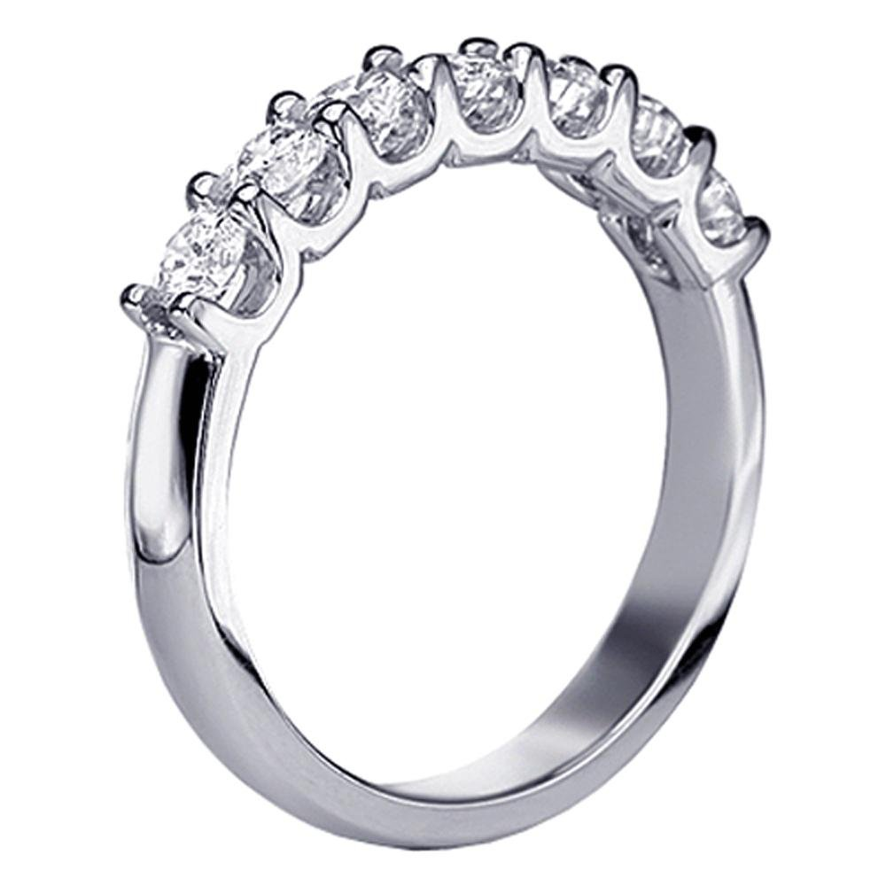1.00 CT TW U-Prong Diamond Anniversary Wedding Ring in Platinum - Size 4