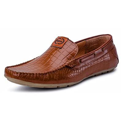 Escaro Men's Venice Patent Croc Boat Loafer: Buy Online at Low Prices in  India - Amazon.in
