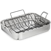 Deals on Calphalon Signature 7 Qt. 16 in. Stainless Steel Roaster w/Rack
