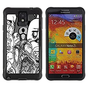 Suave TPU GEL Carcasa Funda Silicona Blando Estuche Caso de protección (para) Samsung Note 3 / CECELL Phone case / / Ghost Monster Teddy Bear Wallpaper Art /