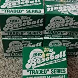 1987 Topps Traded Series Baseball Set - 132 CARDS MINT UNOPENED FACTORY SET