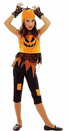 Disfrazzes - Disfraz de calabaza punky para niñas de 5 a 6 años ...