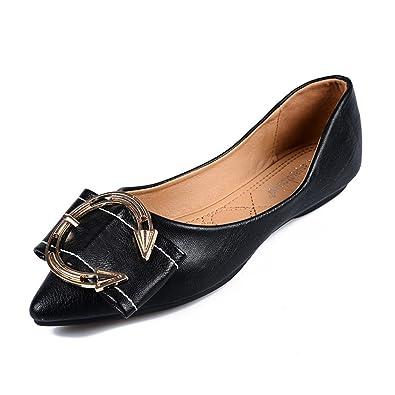 Zapatos de Mujer de Microfibra 2018 Primavera Verano Asakuchi Mocasines y Slip-Ons de Punta