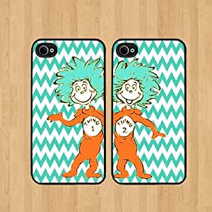 Thing 1 Best Friends iphone 5 Case Soft Rubber - Set of Two Cases (Black or White ) SHIP FROM CA
