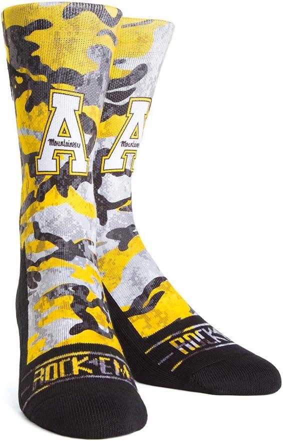 NCAA Appalachian State Mountaineers Custom Athletic Crew Socks
