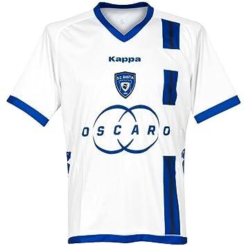 Kappa SC Bastia Camiseta para Hombre Blanco Blanco Talla:Extra-Large
