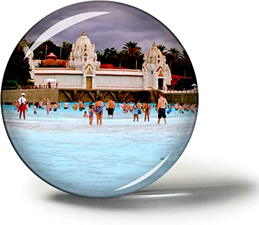 Hqiyaols Souvenir España Siam Park Tenerife Imanes Nevera Refrigerador Imán Recuerdo Coleccionables Viaje Regalo Circulo Cristal 1.9 Inches: Amazon.es: Hogar