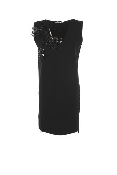 MaxMara Vestido de Las Mujeres M Negro Jerry Otoño Invierno 2017/18
