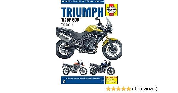 triumph tiger 800 800xc 10 14 haynes powersport haynes rh amazon com tiger 800 xcx service manual tiger 800 service manual