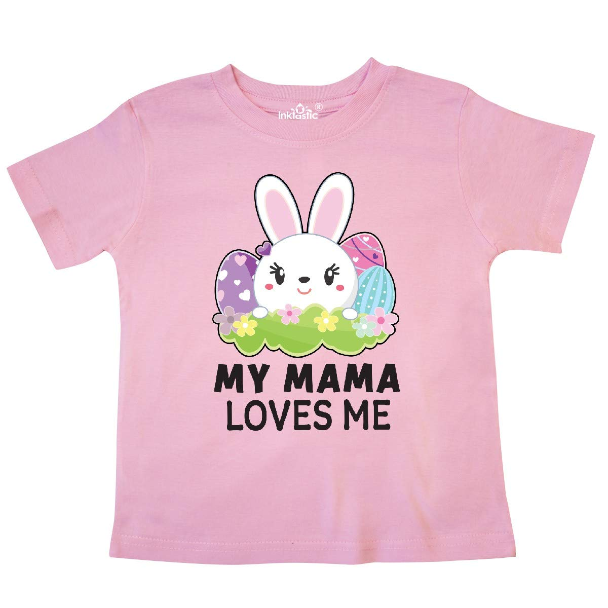 inktastic My Mama Loves Me with Bunny and Easter Eggs Toddler T-Shirt