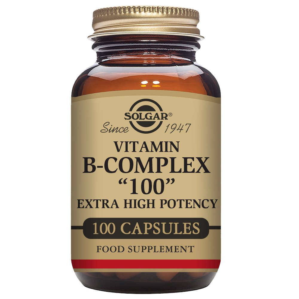 "Solgar – B-Complex ""100"" Vegetable Capsules, 100 Count – Promotes Energy Metabolism"