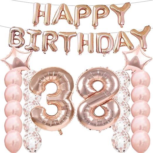 Amazon.com: 38 cumpleaños decoraciones suministros de fiesta ...