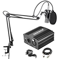 Neewer NW-700 Micrófono de Condensador Profesional & NW-35 Suspensión Auge Tijera Brazo Soporte con Incorporado cable…