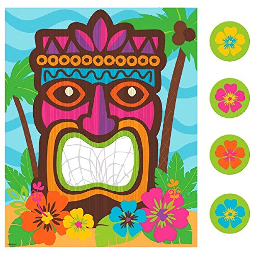 Amscan 270197 Tiki Disc Toss Game, One Size, Multicolor ()