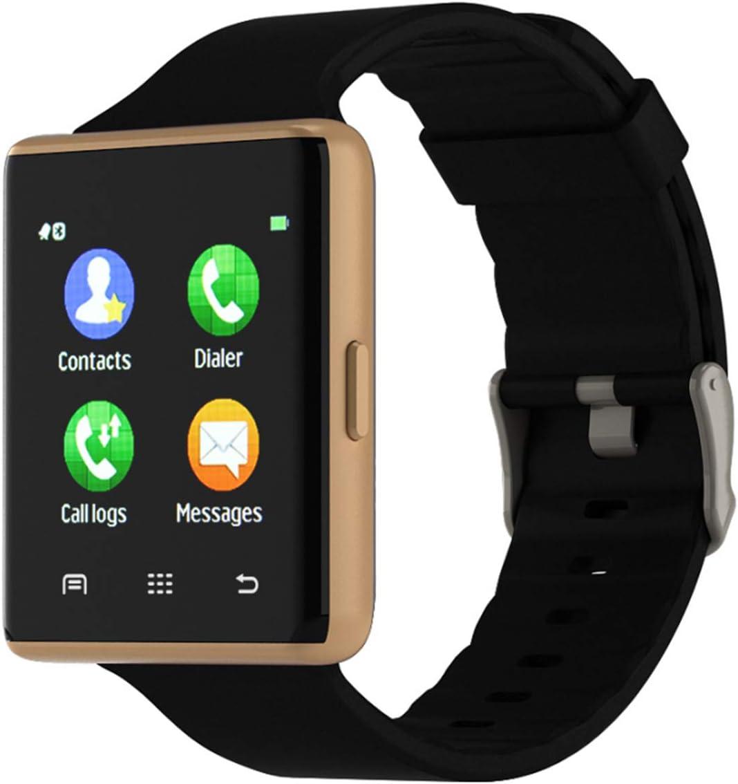 Bebinca Smartwatch Reloj intelligente con Pantalla táctil Bluetooth, rastreador de Actividad, Compatible con iOS Android, Monitor de presión Arterial y frecuencia cardíaca, podómetro