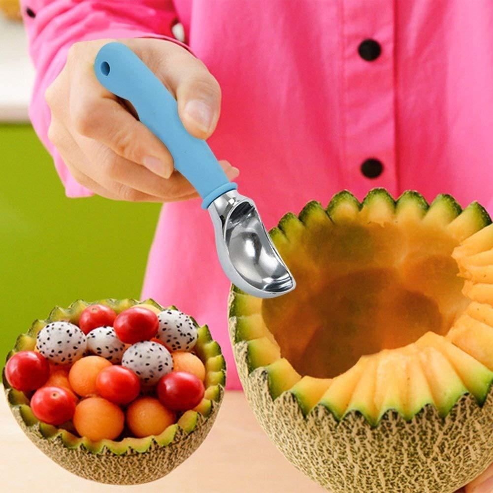 XCOOK Ice Cream Scoop Dipper Spade Zinc Alloy Non-stick Cookie Fruit Melon Baller Scooper Spoon Non-slip Grip Dishwasher Safe