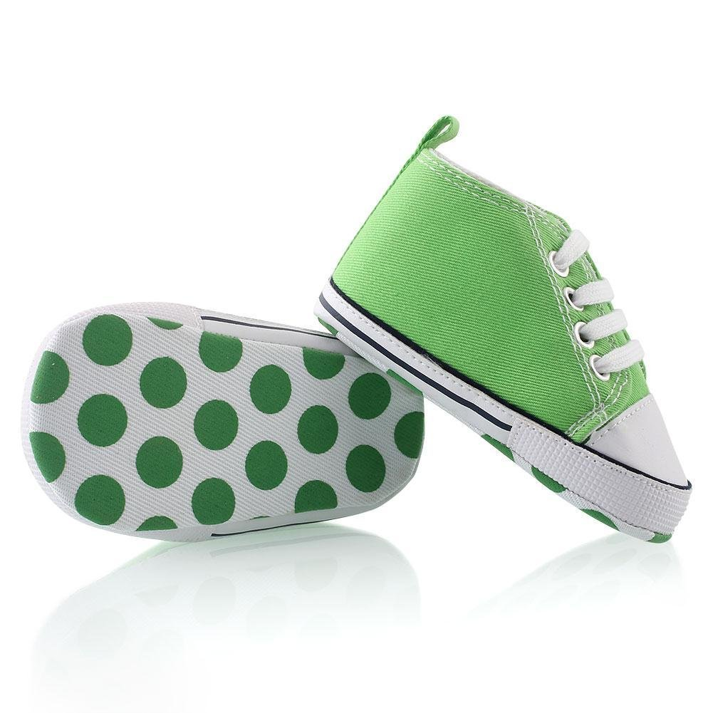 Prewalker Infant Sweet Canvas Sneaker Anti-skid Soft Shoes Trainer Green