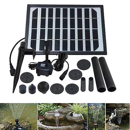 Amazon.com : MJLXY 5W Bomba de Agua Solar, Equipo de Paneles de ...