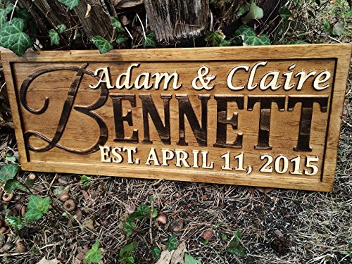 Personalized Family Name Sign Personalized Wedding Gifts