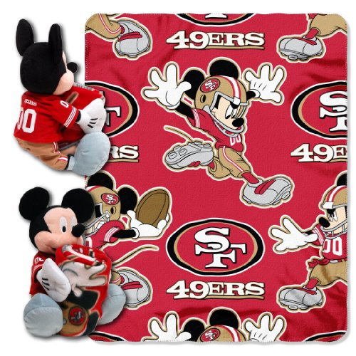 The Northwest Company Officially Licensed NFL San Francisco 49ers Co Disney's Mickey Hugger and Fleece Throw Blanket -