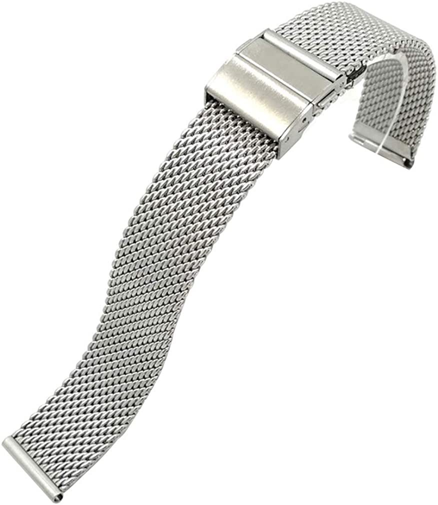 18mm 20mm 22mm Quick Release Premium Mesh Stainless Steel Watch Band Bracelet Solid Milanese Strap for Men Women