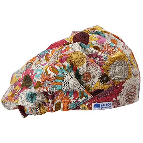 GUOER Scrub Hat Bouffant Scrub Cap One Size Multi Color (Color10) -