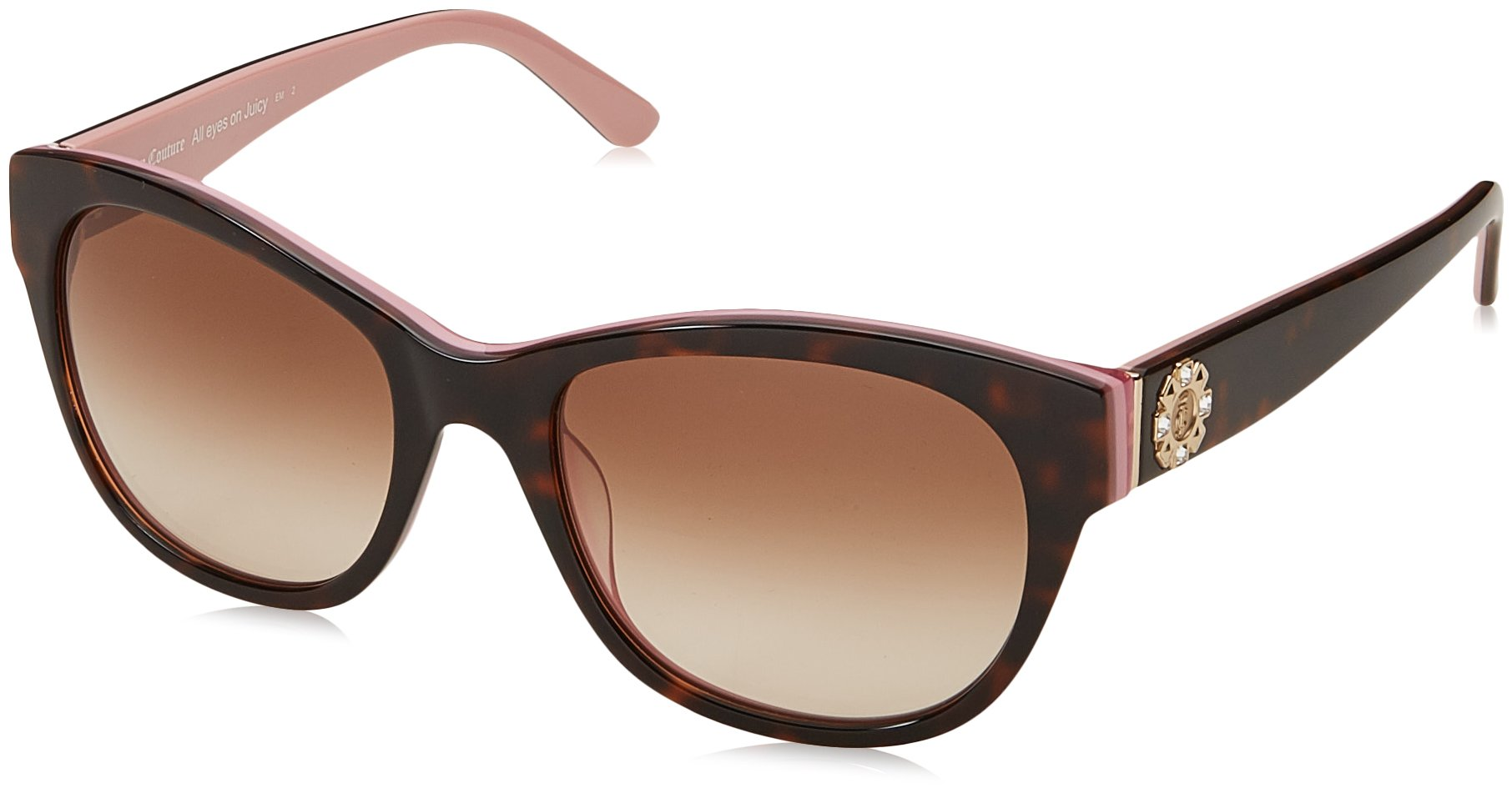 Juicy Couture Women's Ju 587/s Square Sunglasses, Havana Pink, 53 mm