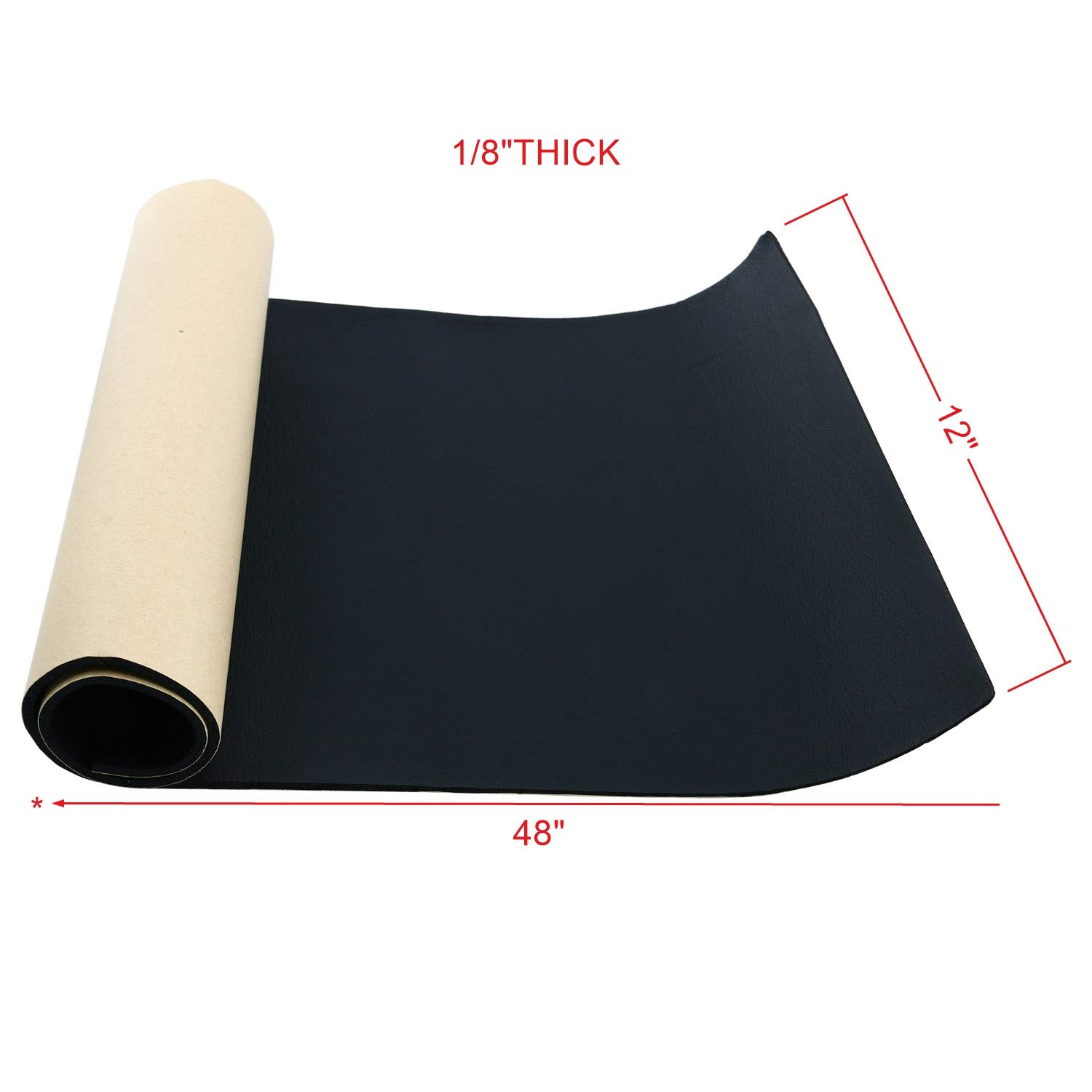 "Homend Sponge Neoprene with Adhesive Foam Rubber Sheet 1 8"" Thick X 12"" Wide X 48"" Long Cut to Multiple Dimensions and Lengths DIY Gaskets Cosplay Costume Crafts"
