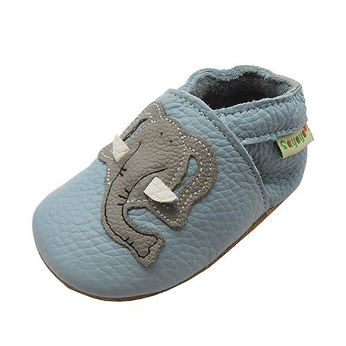 wholesale dealer 6deb6 a1c0a Sayoyo Netter Elefant WeichesLeder Lauflernschuhe Krabbelschuhe Babyschuhe