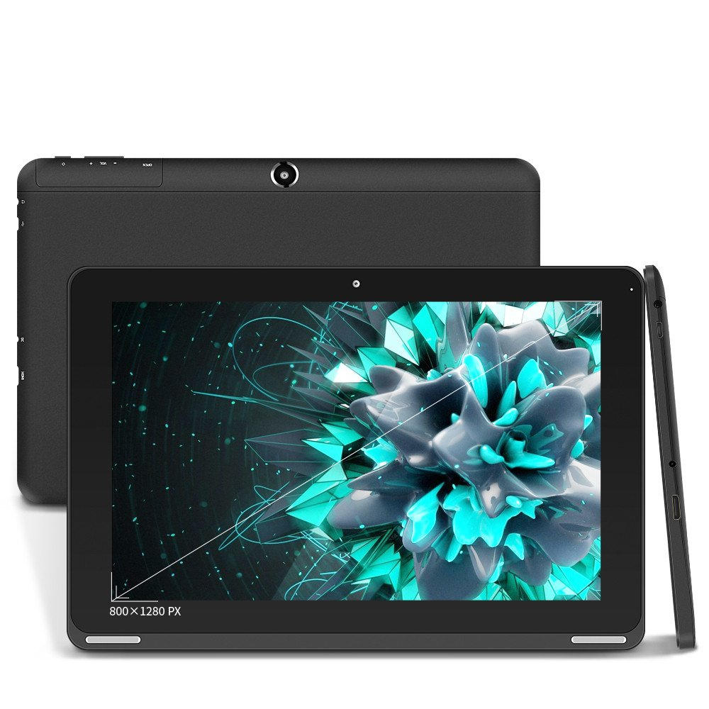 YUNTAB Tablette PC 10,1'' A64 Tablette Tactile - Quad Core, Android 6.0 Tablet 1GB RAM - 16GB ROM Ecran Tactile 1280 * 800 pi 64 bits 6000mAh Tablette Wifi Double Caméra Noir 1'' A64 Tablette Tactile - Quad Core SZibo B102