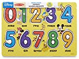 Melissa & Doug Disney Mickey Mouse Numbers Wooden Peg Puzzle (10 pcs)
