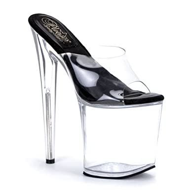 e974713d55 Summitfashions 8 Inch High Platform Open Toe Shoes Clear Platform Sexy  Stripper Shoes Size: 10