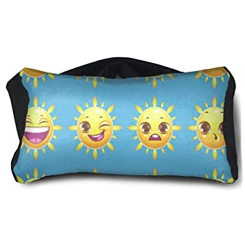 Amazoncom Sleep Eye Mask Pillow Adjustable Strap Smiley Face