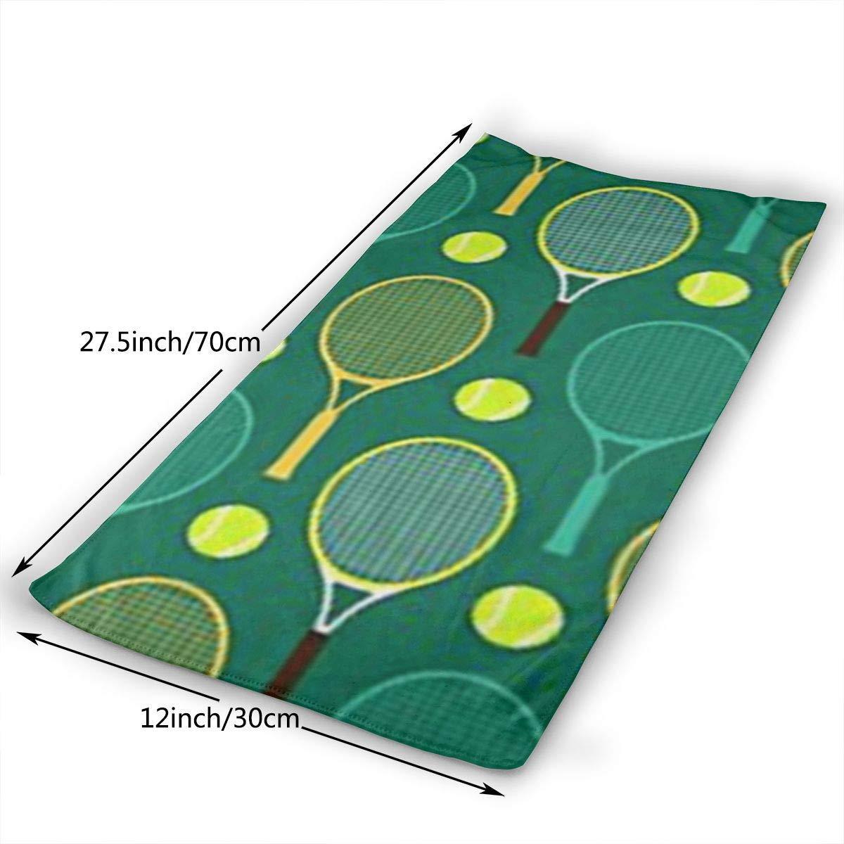 DAICHAI Blue and Green Tennis Rackets Microfiber Beach Towel Large & Oversized - 11.8