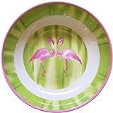 Cynthia Rowley Pink Flamingo Melamine Soup Cereal Bowls Set of 4